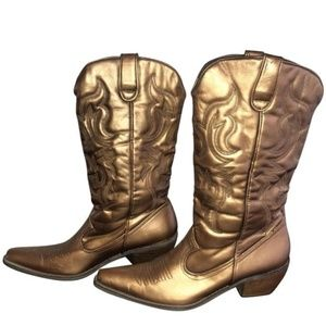 groove Shoes - Groove Copper Metallic Cowboy / Cowgirl Boots